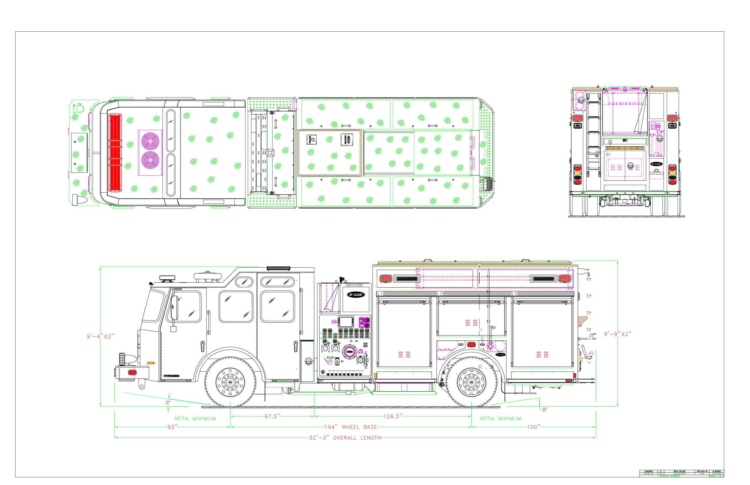 Fully electric fire apparatus